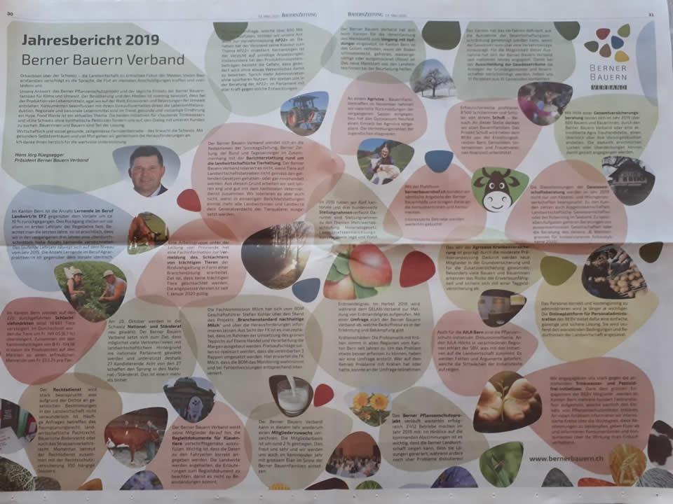 Jahresbericht 2019 vom Berner Bauern Verband